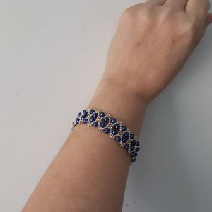 Jewelry - Silver and lapis blue cuff bracelet